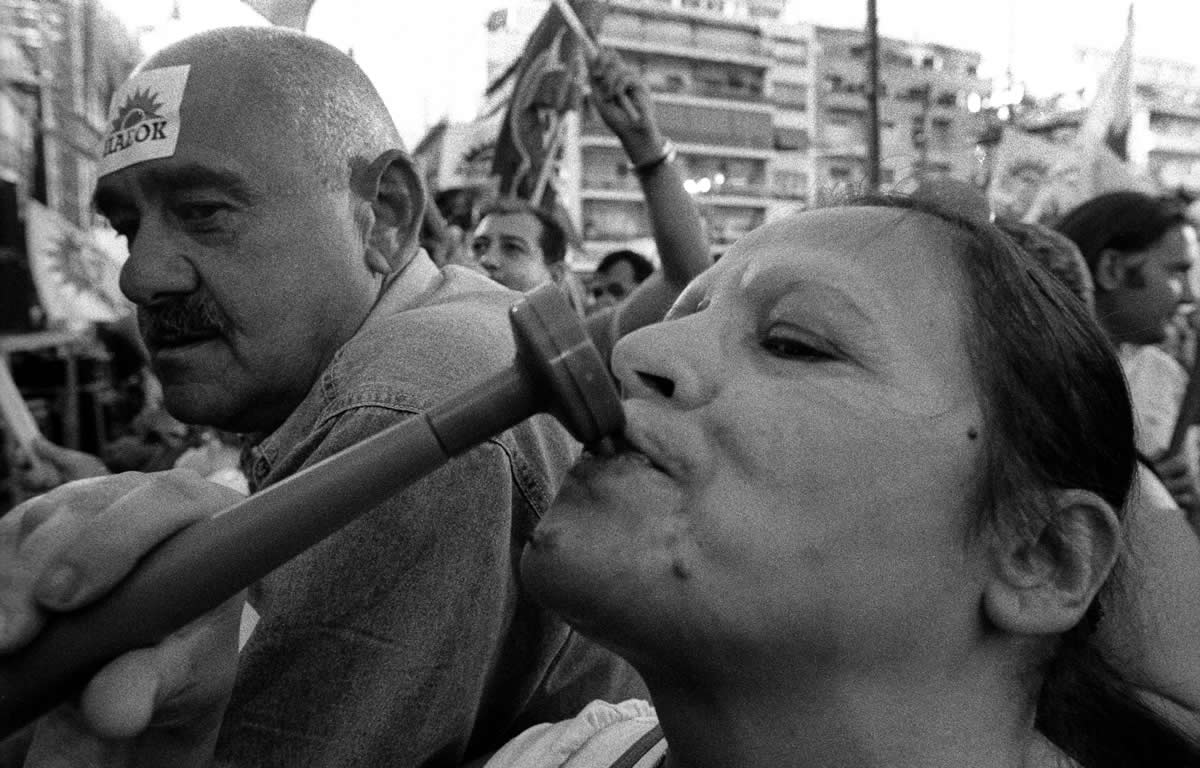 POLITICAL TRIBES Photographs from pre-election rallies Athens